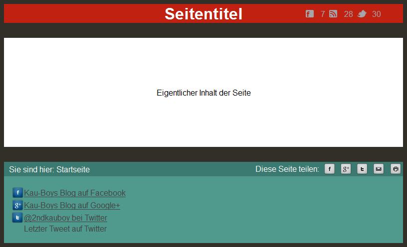 Seite mit Social Bookmark einfach