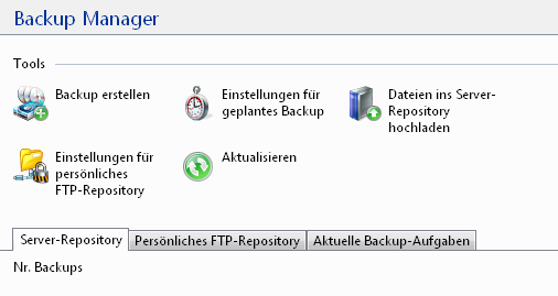 Backup-Manager-Tools