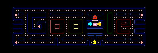 Google Logo zum 30 Geburtstag von Pac-Man