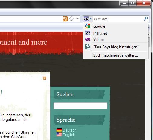 Screenshot im Firefox